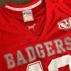 Wisconsin badgers Victoria's Secret pink jersey